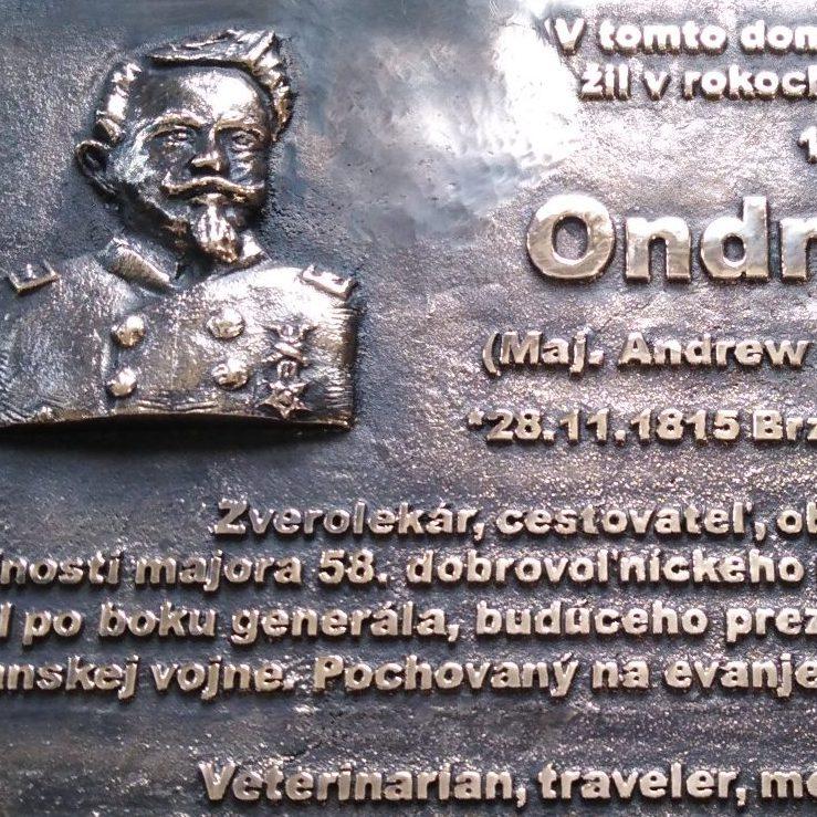 Pamětní deska mjr. Gálika